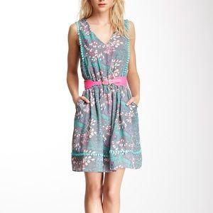 Jessica Simpson Floral Print Sleeveless Dress